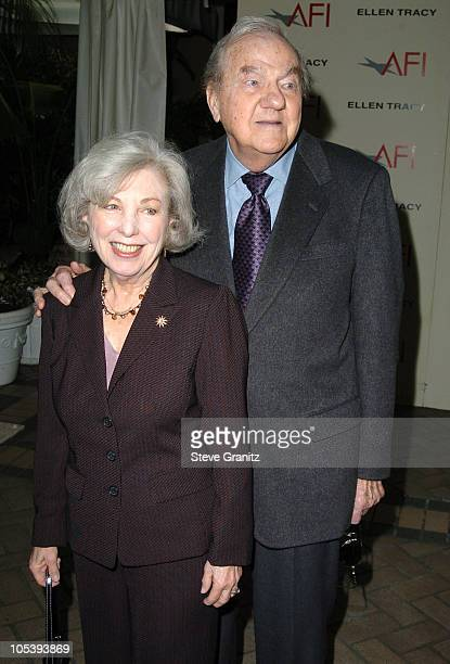 Karl Malden and wife Mona Graham during 2004 AFI Awards Luncheon at Four Seasons in Beverly Hills California United States