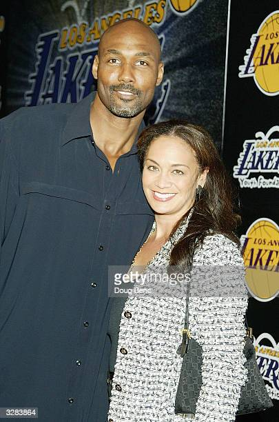 Karl Malone of the Los Angeles Lakers and wife Kay arrive for the 1st Annual Palms Casino Royale to benefit the Los Angeles Lakers Youth Foundation...