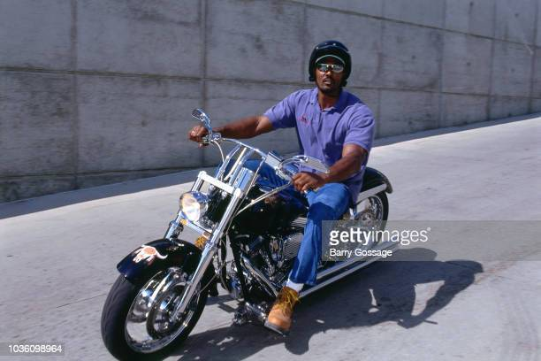 Karl Malone of the Utah Jazz arrives before the game against the Chicago Bulls on June 11 1997 at the Delta Center in Salt Lake City UT NOTE TO USER...