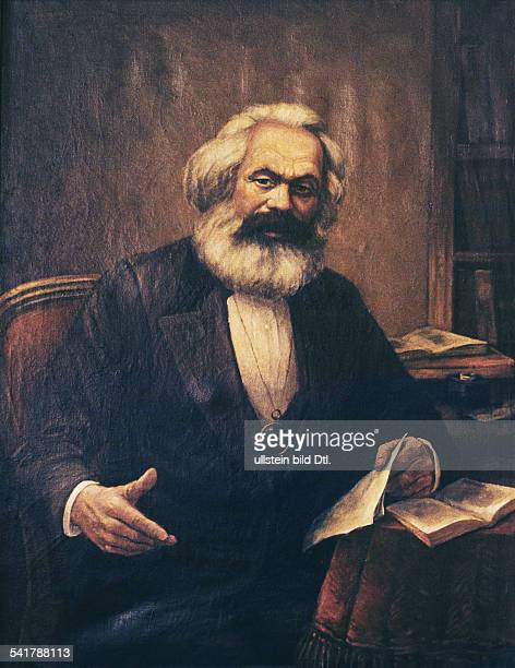 Karl Marx *0505181814031883Philosoph Revolutionär D Porträt am SchreibtischGemälde ohne Jahr