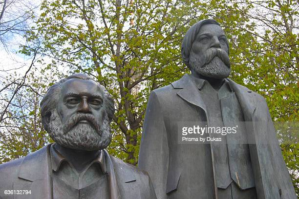 Karl Marx and Friedrich Engels statue.