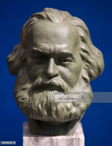 Karl Marx portrait bust in the House of History of the Federal Republic of Germany in Bonn