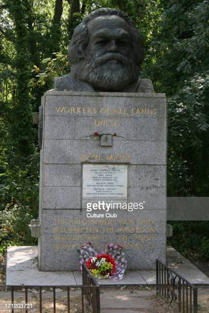 Karl Marx 's gravestone at Highgate Cemetery 5 May 1818 – 14 March 1883