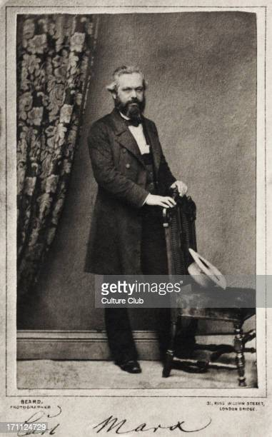 Karl Marx signed portrai taken in London by Beard German historian economist revolutionary18181883