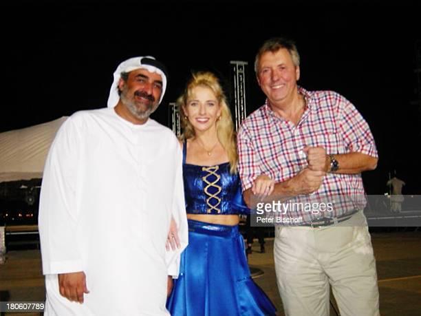 Karl Moik Scheich Feisal Marianne Cathomen ARD/ORFMusikShow Musikantenstadl Dubai Vereinigte Arabische Emirate