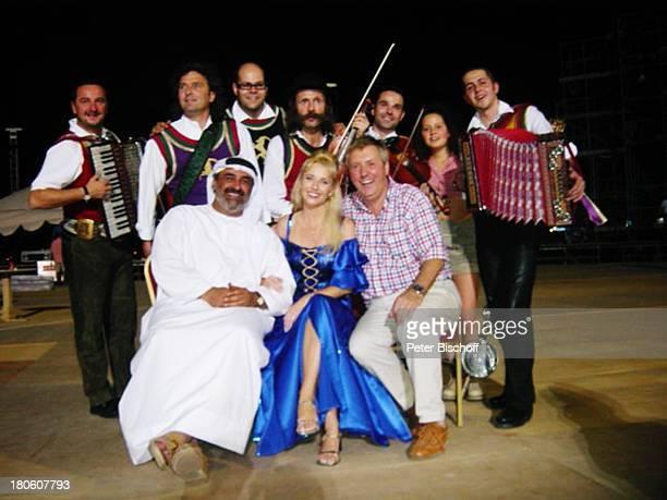 Karl Moik Scheich Feisal Marianne Cathomen Musikanten ARD/ORFMusikShow Musikantenstadl Dubai Vereinigte Arabische Emirate