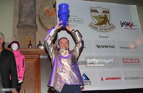 Karl Obauer Restaurant Hotel Obauer Werfen attends the Gala 'Nacht der Koeche' during the 17th 'SterneCup der Koeche' skiing competition for...