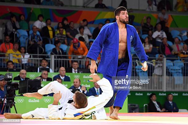 Karl Richard Frey against Cyrille Maret of France during bronze match on 100kg during Judo on Olympic Games 2016 in Rio at Carioca Arena 2 on August...