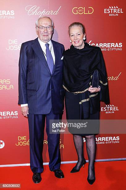 Karl Scheufele and Karin Scheufele attend the 22th Annual Jose Carreras Gala on December 14 2016 in Berlin Germany