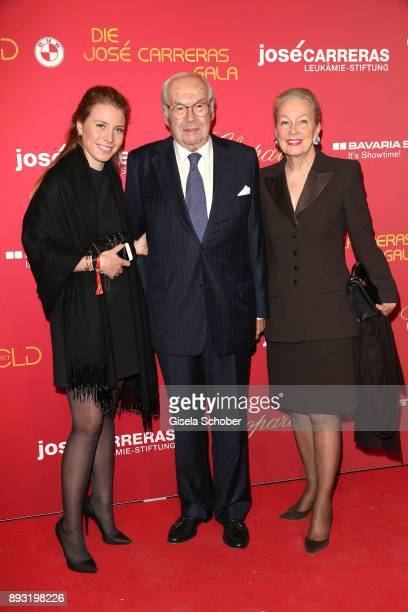 Karl Scheufele founder of Chopard and his wife Karin Scheufele and granddaughter CarolineMarie Scheufele during the 23th annual Jose Carreras Gala at...