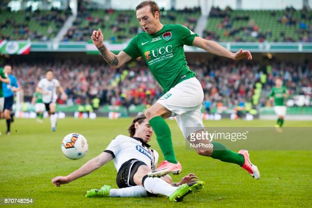 Karl Sheppard of Cork pictured in action during the Irish Daily Mail FAI Senior Cup Final between Dundalk FC and Cork City at Aviva Stadium in Dublin...