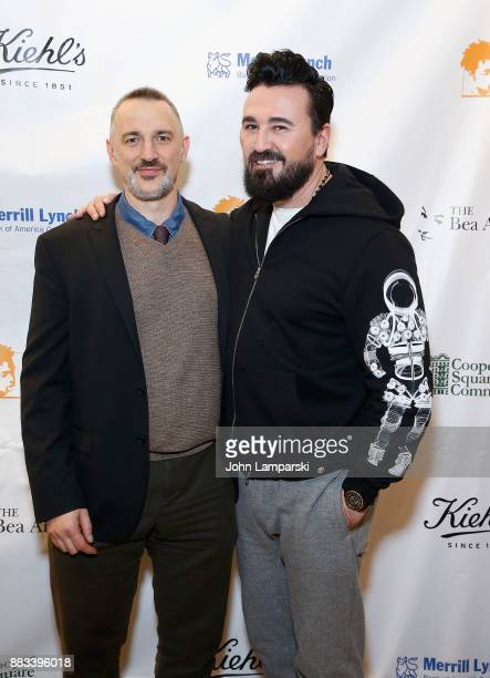 Karl Siciliano and the President of Kiehl's Chris Salgardo attends The Bea Arthur Residence Building dedication on November 30, 2017 in New York City.
