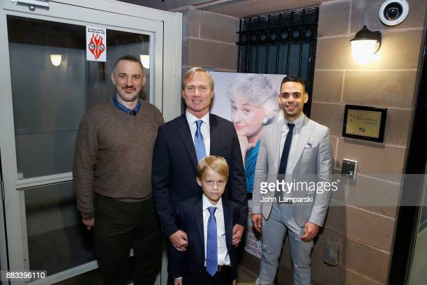 Karl Siciliano,Matthew Saks, Brody Saks and Alex Roque attend The Bea Arthur Residence Building dedication on November 30, 2017 in New York City.