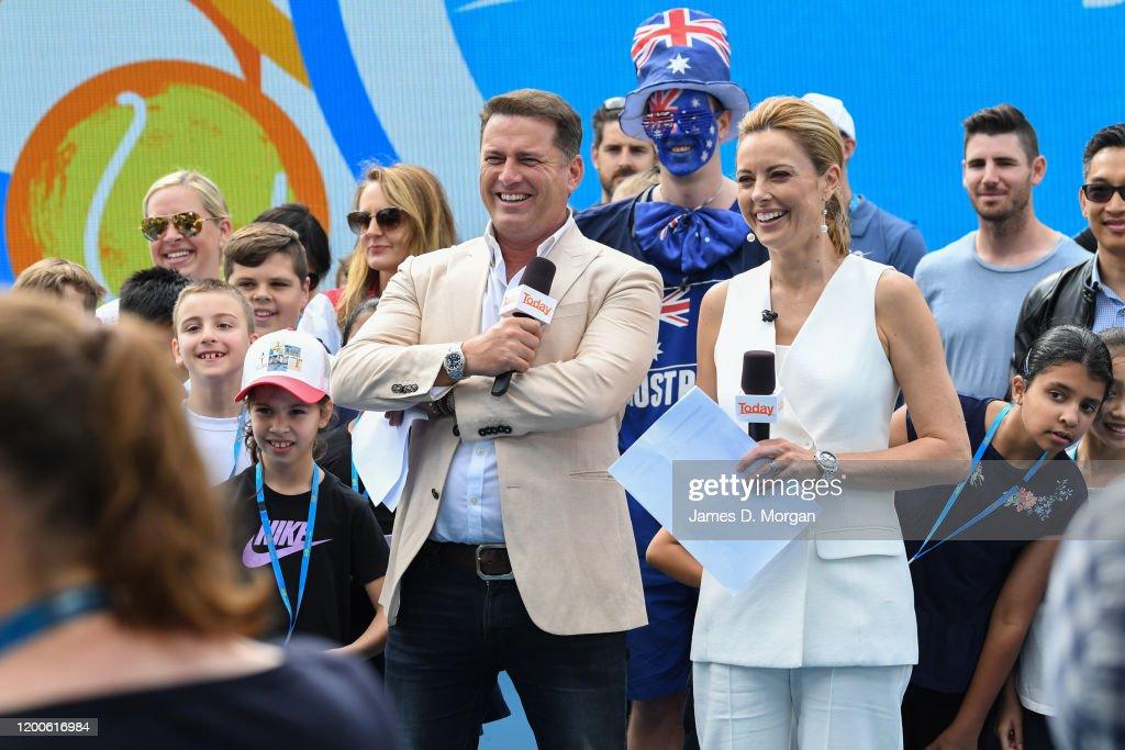 Celebrities at the 2020 Australian Open : News Photo
