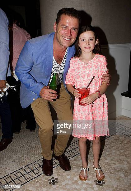 Karl Stefanovic and daughter Ava attend the Scotch and Soda sydney store launch on November 28 2013 in Sydney Australia