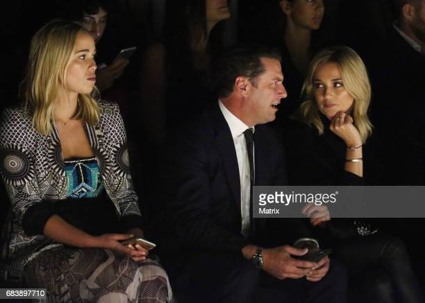 Karl Stefanovic and girlfriend Jasmine Yarbrough attend the MercedesBenz Fashion Week Australia first runway show on May 15 2017 in Sydney Australia