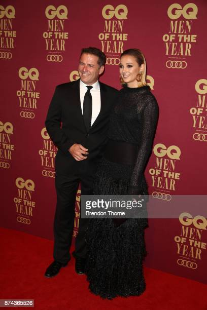 Karl Stefanovic and Jasmine Yarbrough attend the GQ Men Of The Year Awards at The Star on November 15 2017 in Sydney Australia