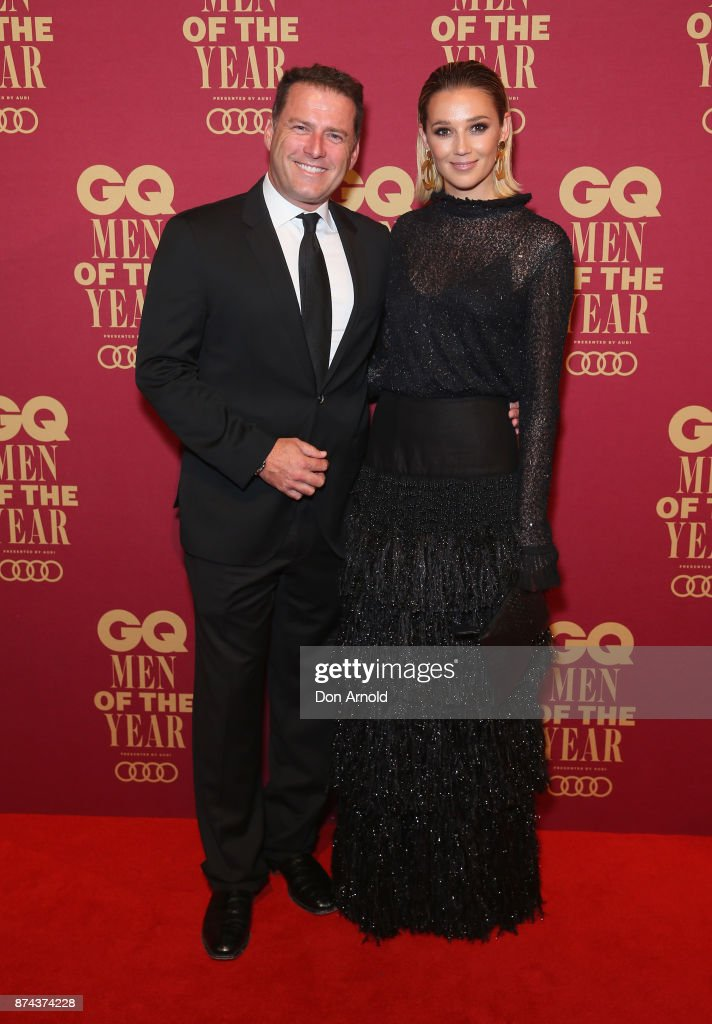 Karl Stefanovic and Jasmine Yarbrough attend the GQ Men Of The Year Awards at The Star on November 15, 2017 in Sydney, Australia.