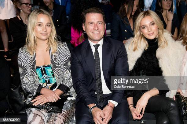 Karl Stefanovic and Jasmine yarbrough attends the Justin Cassin show at MercedesBenz Fashion Week Resort 18 Collections at Carriageworks on May 15...