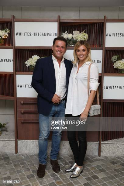 Karl Stefanovic and Jasmine Yarbrough attends the Witchery x OCRF White Shirt Campaign Launch on April 4 2018 in Sydney Australia