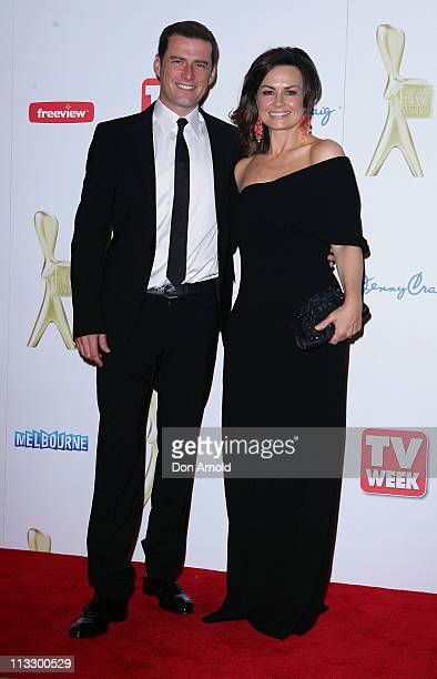 Karl Stefanovic and Lisa Wilkinson arrive on the red carpet ahead of the 2011 Logie Awards at Crown Palladium on May 1 2011 in Melbourne Australia