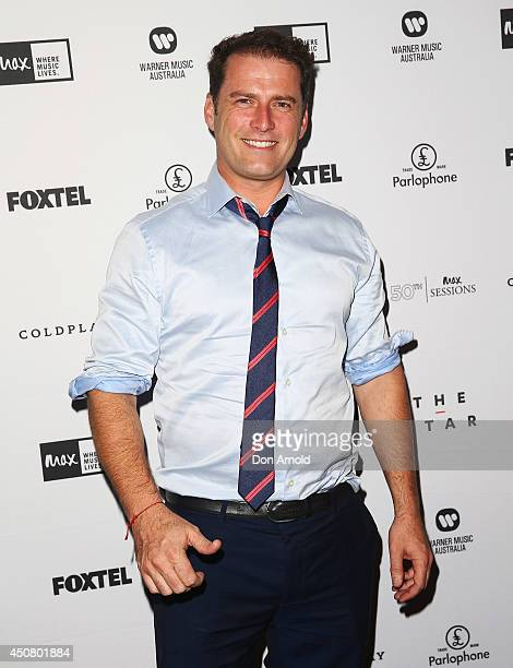Karl Stefanovic arrives at MAX Sessions Coldplay at The Star Event Centre on June 18 2014 in Sydney Australia