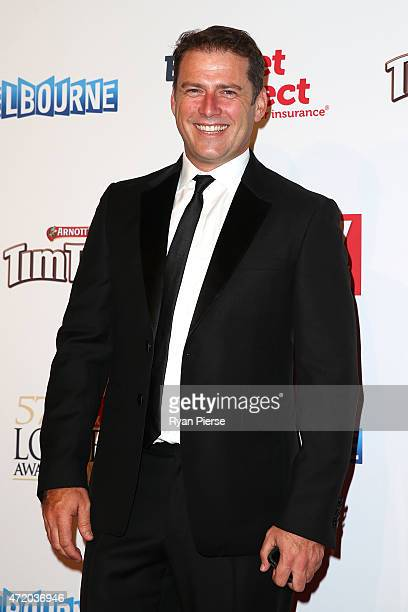 Karl Stefanovic arrives at the 57th Annual Logie Awards at Crown Palladium on May 3 2015 in Melbourne Australia