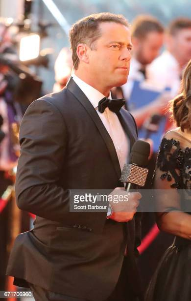 Karl Stefanovic arrives at the 59th Annual Logie Awards at Crown Palladium on April 23 2017 in Melbourne Australia