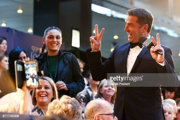 Karl Stefanovic poses for photos with fans at the 59th Annual Logie Awards at Crown Palladium on April 23 2017 in Melbourne Australia