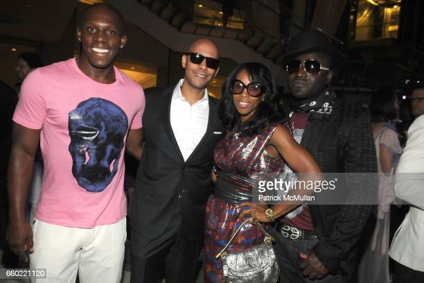 Karl Taylor Marc Chamblin June Ambrose and Mr Gabriel attend LOUIS VUITTON 40th Anniversary of the Lunar Landing Tribute Event at Rose Center for...