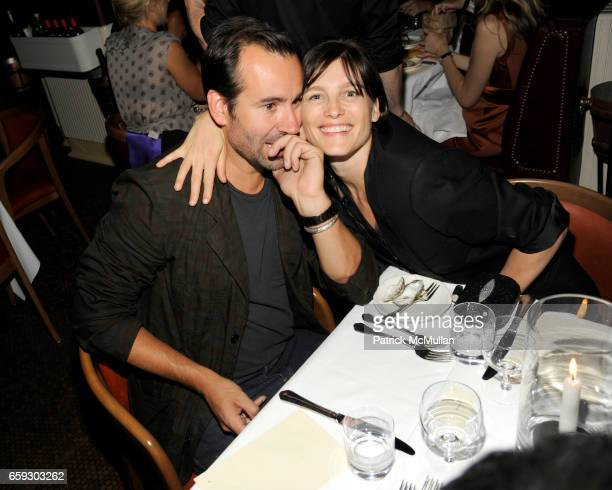 Karl Templer and Tabitha Simmons attend CALVIN KLEIN COLLECTION Women's Spring 2010 PostShow Dinner at The Standard on September 17 2009 in New York