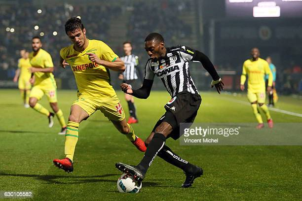 Karl Toko Ekambi of Angers during the French Ligue 1 match between Angers and Nantes on December 16 2016 in Angers France