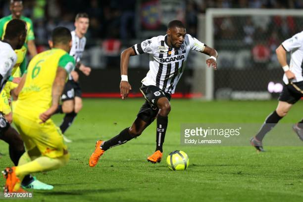 Karl Toko Ekambi of Angers during the Ligue 1 match between Angers and Nantes at Stade Raymond Kopa on May 12 2018 in Angers