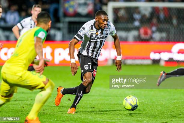 Karl Toko Ekambi of Angers during the Ligue 1 match between Angers SCO and Nantes at Stade Raymond Kopa on May 12 2018 in Angers