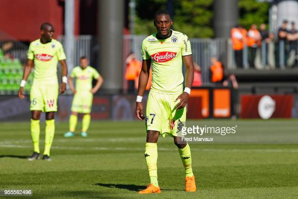 Karl Toko Ekambi of Angers during the Ligue 1 match between Metz and Angers SCO at on May 6 2018 in Metz