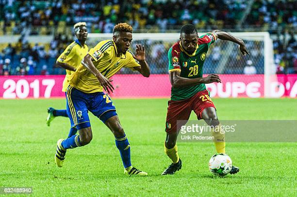 Karl Toko Ekambi of Cameroon during the African Nations Cup match between Cameroon and Gabon at Stade de L'Amitie on January 22, 2017 in Libreville,...