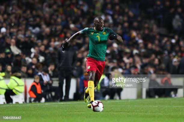 Karl Toko Ekambi of Cameroon during the International Friendly match between Brazil and Cameroon on November 20, 2018 in London, United Kingdom.