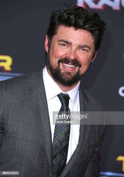 Karl Urban arrives at the Premiere Of Disney And Marvel's 'Thor Ragnarok' on October 10 2017 in Los Angeles California