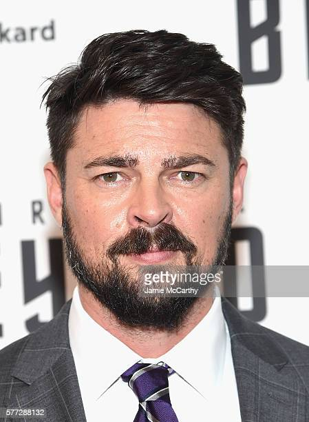 Karl Urban attends the 'Star Trek Beyond' New York Premiere at Crosby Street Hotel on July 18 2016 in New York City