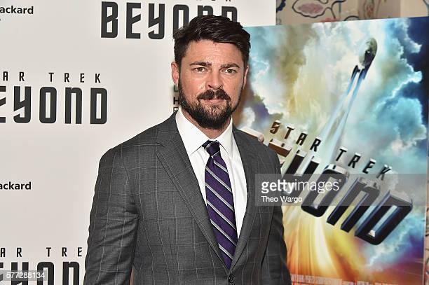 "Karl Urban attends the ""Star Trek Beyond"" New York Premiere at Crosby Street Hotel on July 18, 2016 in New York City."