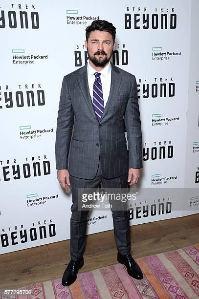 Karl Urban attends the 'Star Trek Beyond' New York premiere at Crosby Street Hotel on July 18 2016 in New York City