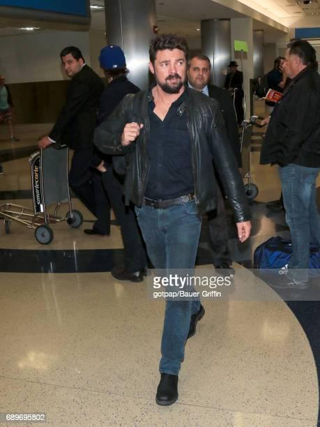 Karl Urban is seen at Los Angeles International Airport on May 28 2017 in Los Angeles California