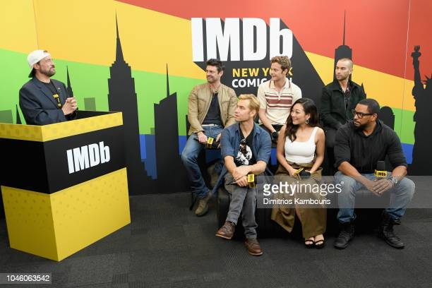 Karl Urban Jack Quaid Chace Crawford Antony Starr Karen Fukuhara Laz Alonso of 'The Boys' and Kevin Smith attend IMDb at New York Comic Con Day 1 at...