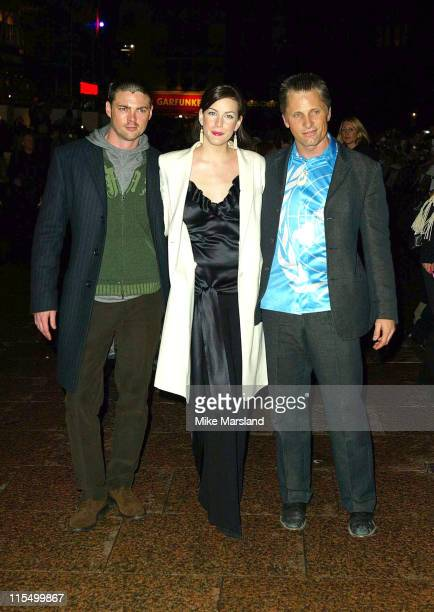 Karl Urban Liv Tyler and Viggo Mortensen during 'Lord Of The Rings The Return Of The King' UK Premiere at Odeon Leicester Square in London Great...