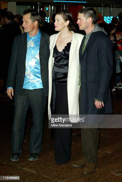 Karl Urban Viggo Mortensen and Liv Tyler during 'Lord Of The Rings The Return Of The King' UK Premiere at Odeon Leicester Square in London Great...