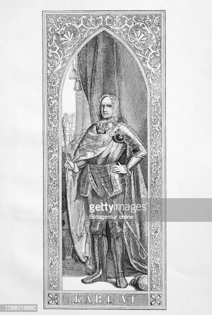 Karl VI. Franz Joseph Wenzel Balthasar Johann Anton Ignaz was 1711 to 1740 Roman-German Emperor and Archduke of Austria / Karl VI. Franz Joseph...