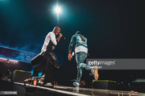Karl Wilson and Casyo Johnson of Krept Konan perform at The O2 Arena on December 5 2019 in London England