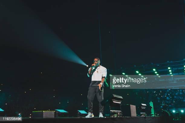 Karl Wilson of Krept Konan performs at The O2 Arena on December 5 2019 in London England