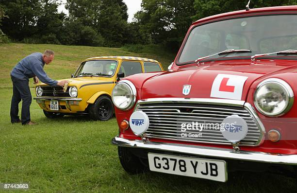 Karl Woodman polishes his Mini in Crystal Palace Park as he prepares to celebrate the 50th anniversary of the car with the annual 'London To Brighton...