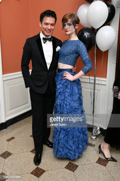 Karl Yeh and Alexandra Bell attend the Yorkville Ball at The Union Club on November 10 2018 in New York City